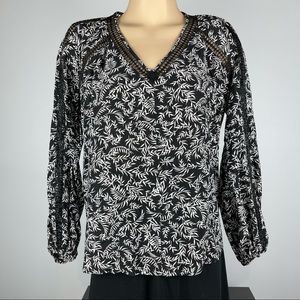 Country Road Long Sleeve Blouse - Size 8